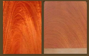 Examples of figuring in real mahogany