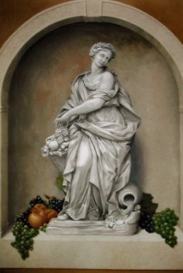 Statue with Fruit